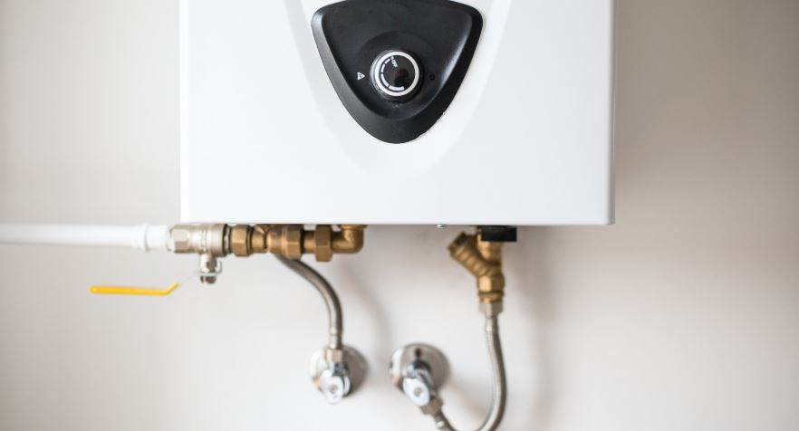 A tankless water heater is a space saver.